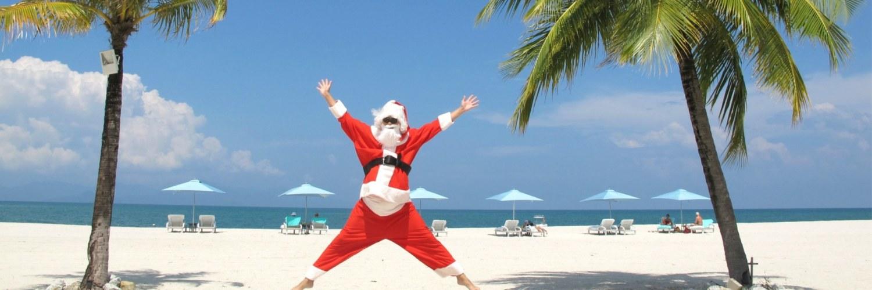 Pere Noël Plage Caraïbes Mexique