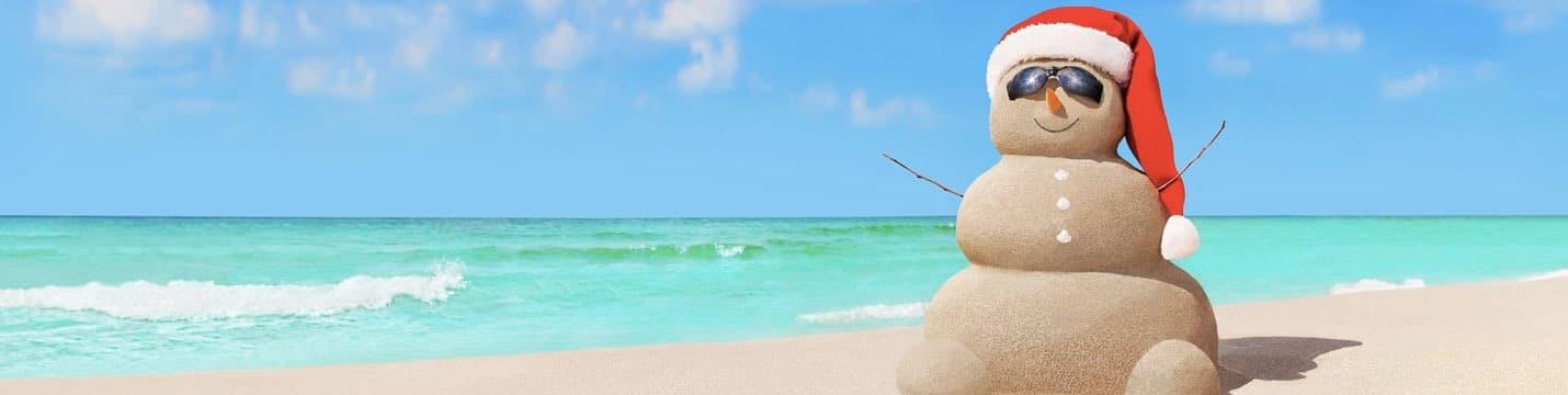 Pere Noel plage Caraïbes Mexique