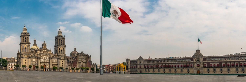 Drapeau Mexique Zocalo