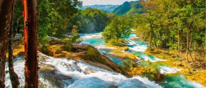 Agua azul Chiapas Mexique