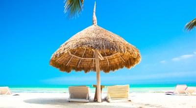 plage parasol Mexique Decouverte
