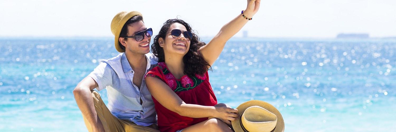 Couple en vacances Mexique